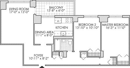 Co-op City or coopcity apartment or cooperative units 2 bedroom floor plans for different size apartments or coops sometimes referred to as co-ops or cooperative units